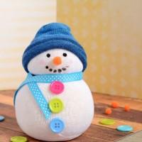 Μία κάλτσα, λίγο ρύζι και έτοιμος ο χιονάνθρωπος!
