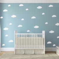 Διακόσμηση με συννεφάκια στο δωμάτιο του μωρού σου.